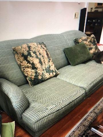 Ralph Lauren Green Sofa