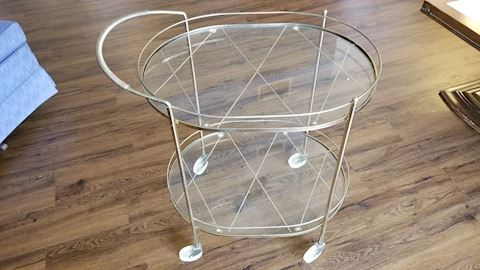 Glass tea cart