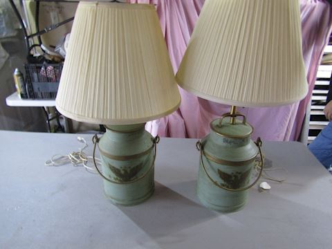 milk can lamps