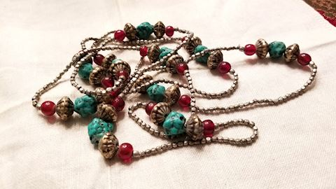 Turquoise & beads necklace