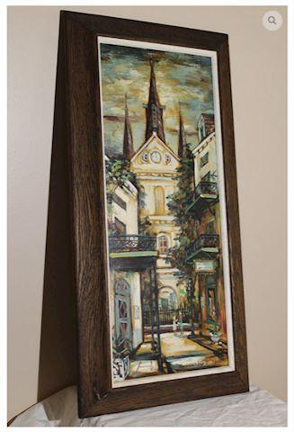 George Grunblatt Signed Oil Painting New Orleans
