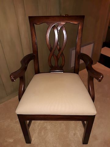 """BD2  110  """"Wooden Chair"""" with arms"""