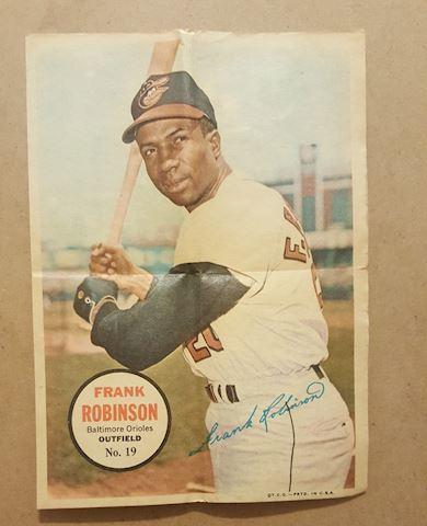 Old 1967 Frank Robinson Topps Poster Insert #19