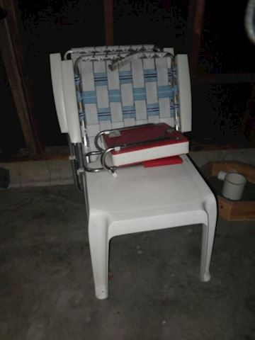 Outdoor End Table and Chairs