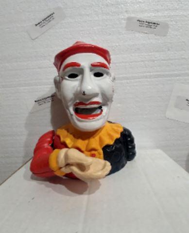 Antique Cast Iron Bank Clown - RARE