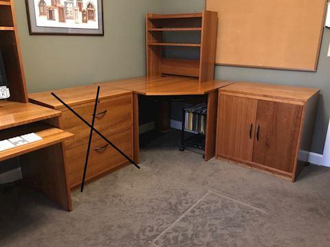 Corner computer work station
