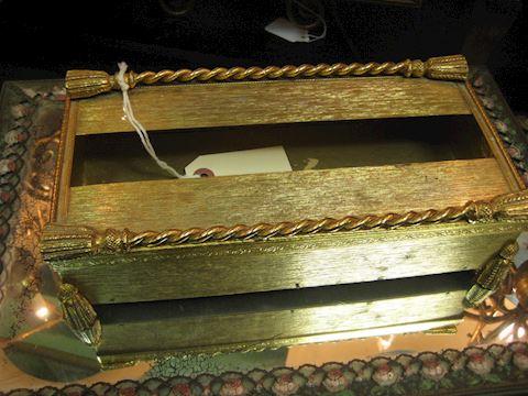 Bronze tissue Box