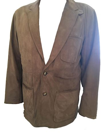 Men's Orvis Suede Leather Jacket Blazer - Large