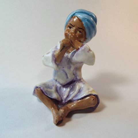 "Royal Worcester Figurine ""India"" Children of World"