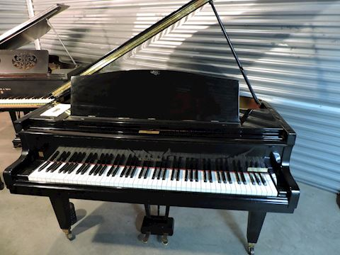 Grand Piano High Gloss Black W. Hoffmann - RARE
