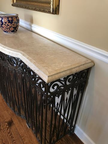 Fabulous Wrought Iron & Marble Table