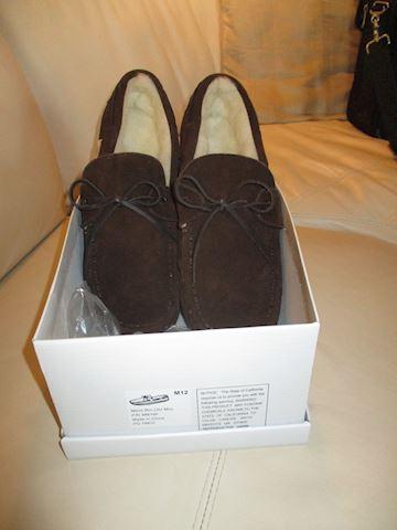 Men's suede bedroom slippers