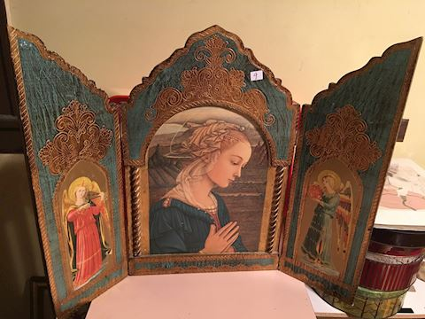Madonna and Angels Triptych
