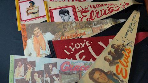 Lot #86 Elvis Presley Pennant Flags & Prints