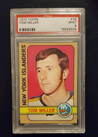 Graded 1972 Tom Miller Hockey Card PSA Mint 9