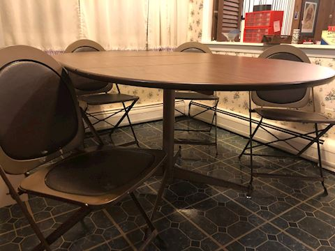 Metal Kitchen Table - 4 Chairs