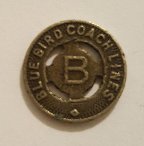 Old Blue Bird Coach Lines Transportation Token