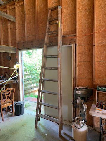 10 foot Keller wood ladder Lot #40