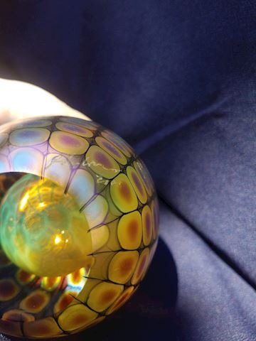Stunning  signed art-glass perfume bottle