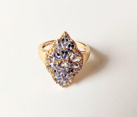 Sterling Silver Ring Amethyst Gemstones