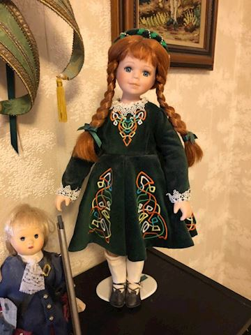 Irish Dancer collectible doll on stand