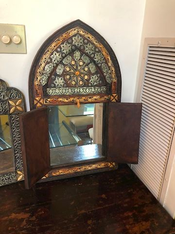 Carved & Inlaid mirror