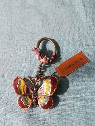 Jay Strongwater keychain, butterfly