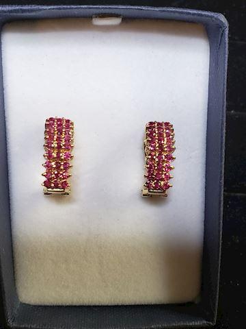 Burmese Rubies in 14K Gold