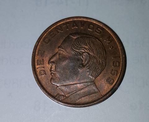 Old 1959 Mexico Coin