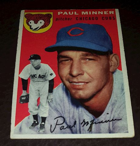 1954 Paul Minner Chicago Cubs Baseball Card #28