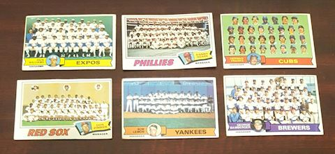 6-1977-79 Baseball Team Photo Cards