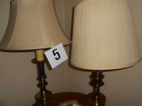 Lot #5 pair of lamps