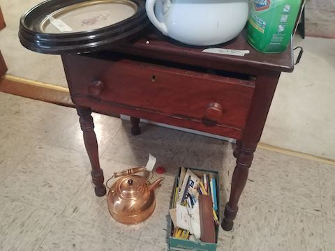 One draw stand antique