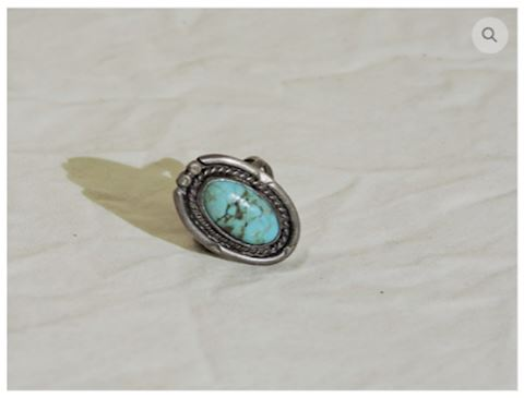 1950s VINTAGE Turquoise Ring Sterling Silver