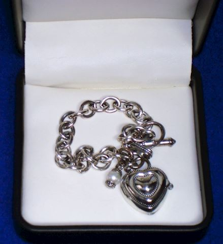 Watch Ladies-Sterling Silver Chain & Heart