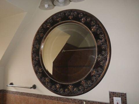 Circular Beveled Mirror