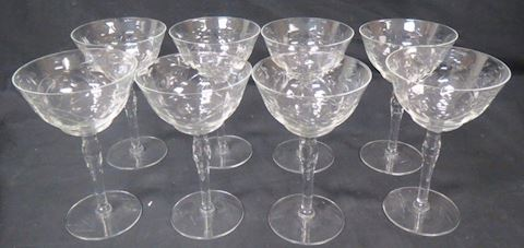 Princess House Crystal Set of 8 Wine Glasses