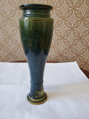 Ceramic green vintage vase