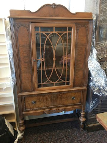 "Antique Etagere China Cabinet 70"" x  37"" x 15"""