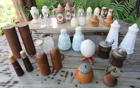 Salt & Pepper Lot: 15 sets & 3 individual shakers