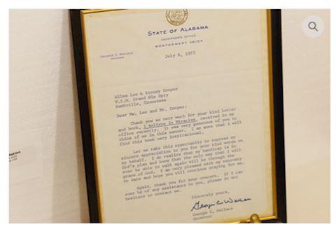 1973 Signed Letter George C Wallace Gov. Alabama
