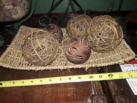 Wicker Bowl with Balls