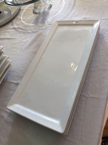 Rectangular ceramic plates - set/4 - #3