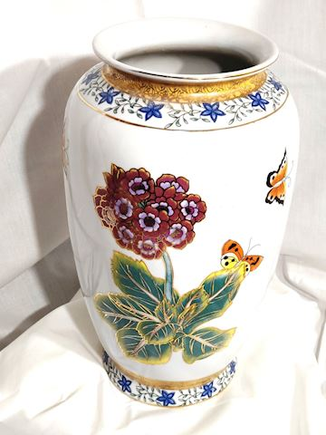 Antique Chinese Vase w/ Butterflies