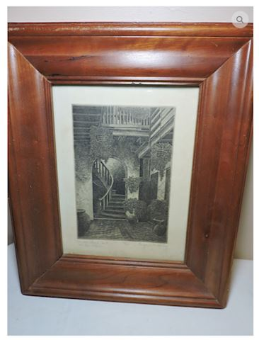 Eugene E. Loving Etching Signed Marchland Court