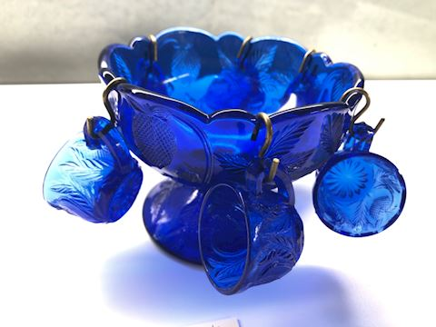 Cobalt Child's Punch Bowl Set