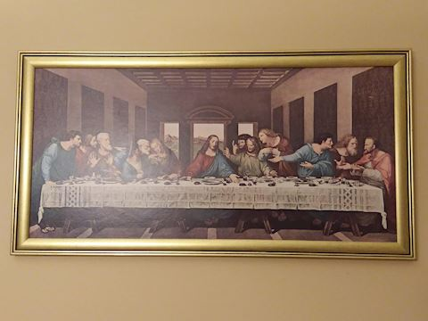 The Last Supper Frame Wall Art, Painting on Board