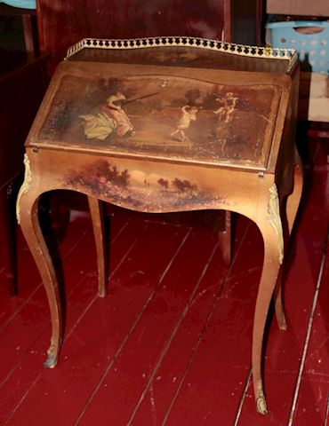 Stunningly Beautiful Hand Painted Desk 1940's