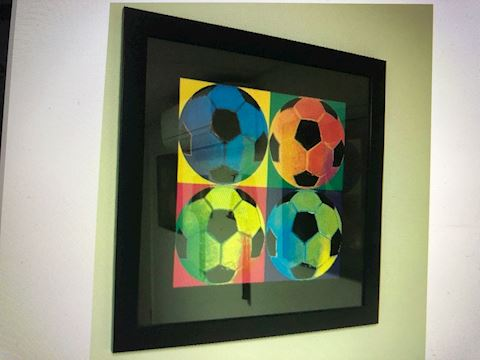 Soccer frame photo