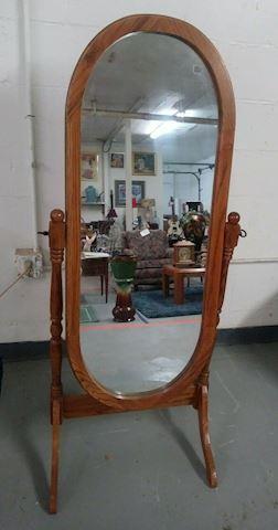 Powell Parker Oak Cheval Mirror